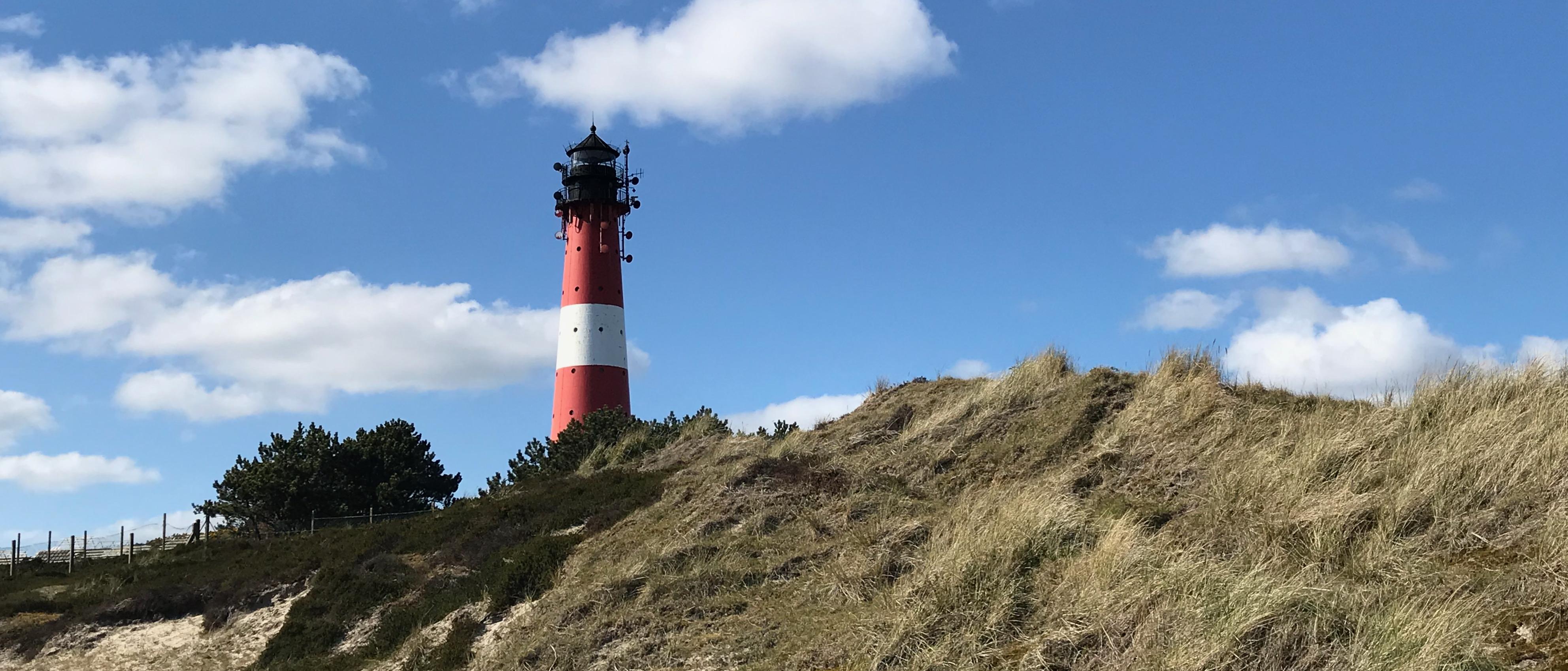 Leuchtturm von Hörnum auf der Insel Sylt