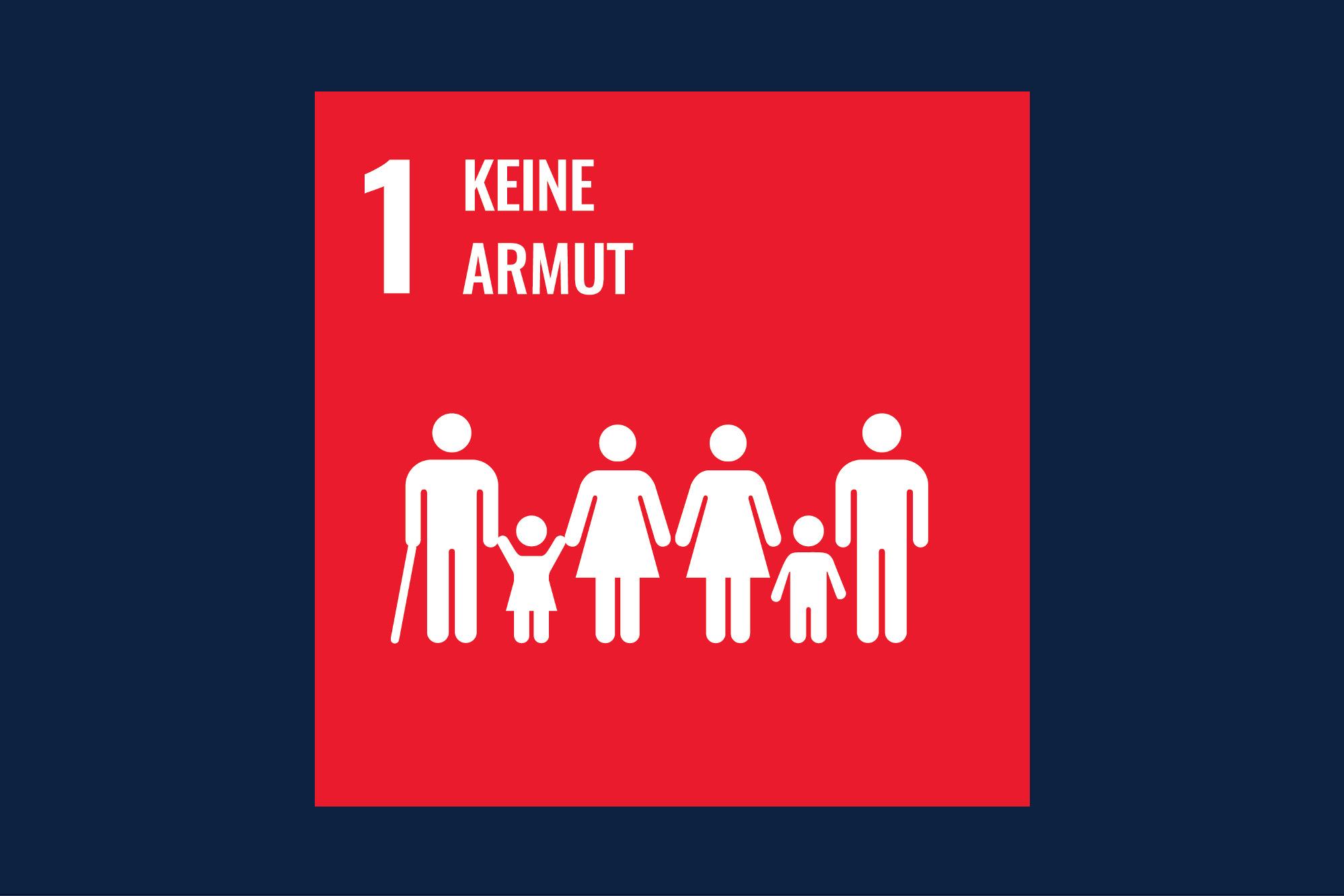 Icon für das Ziel 1 – keine Armut