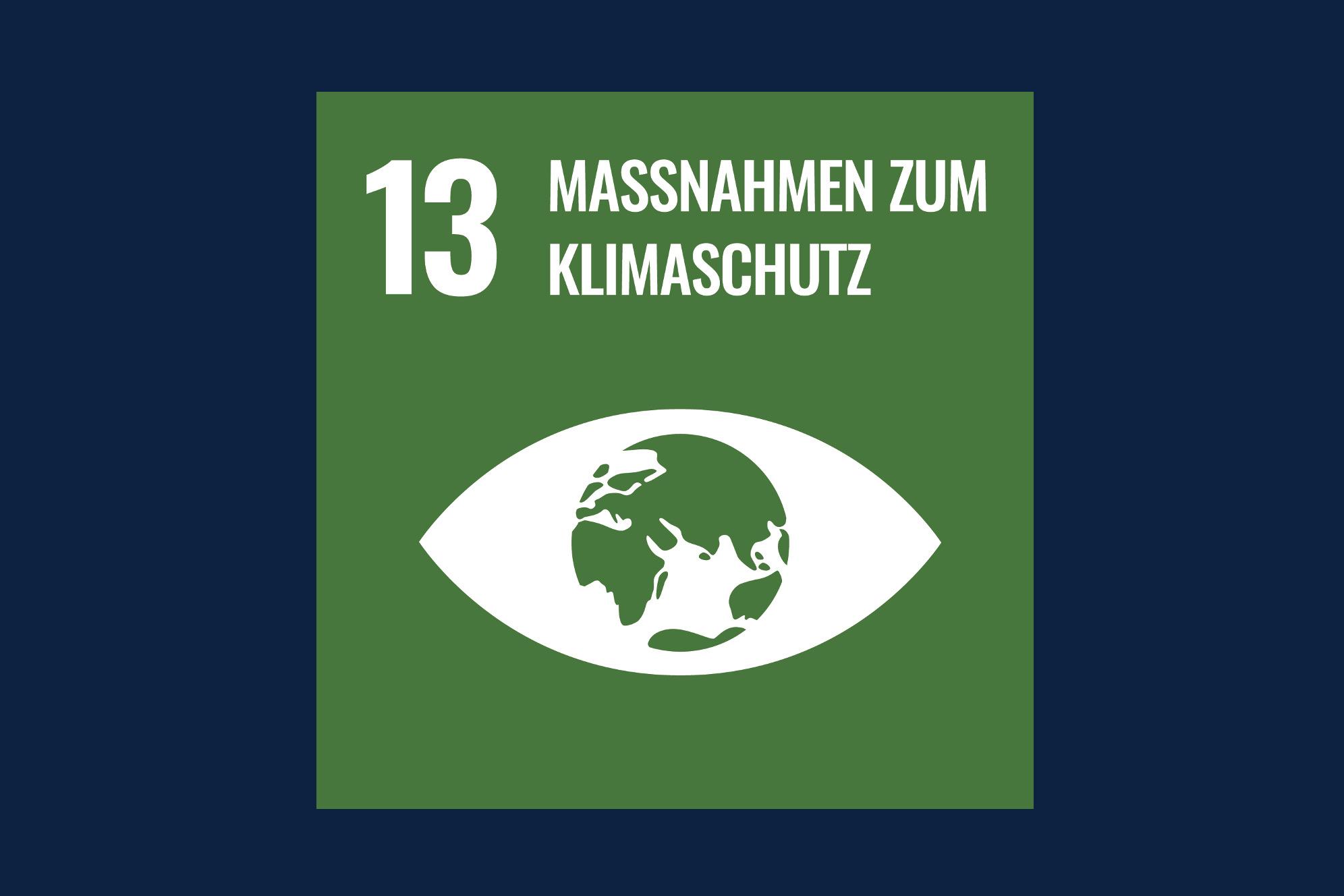 Icon für das Ziel 13 – Maßnahmen zum Klimaschutz