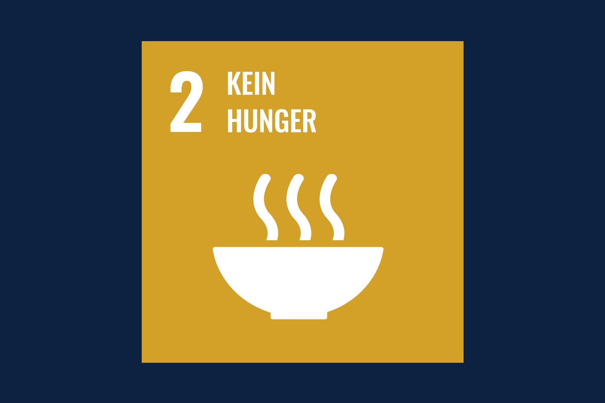 Icon für das Ziel 2 – kein Hunger