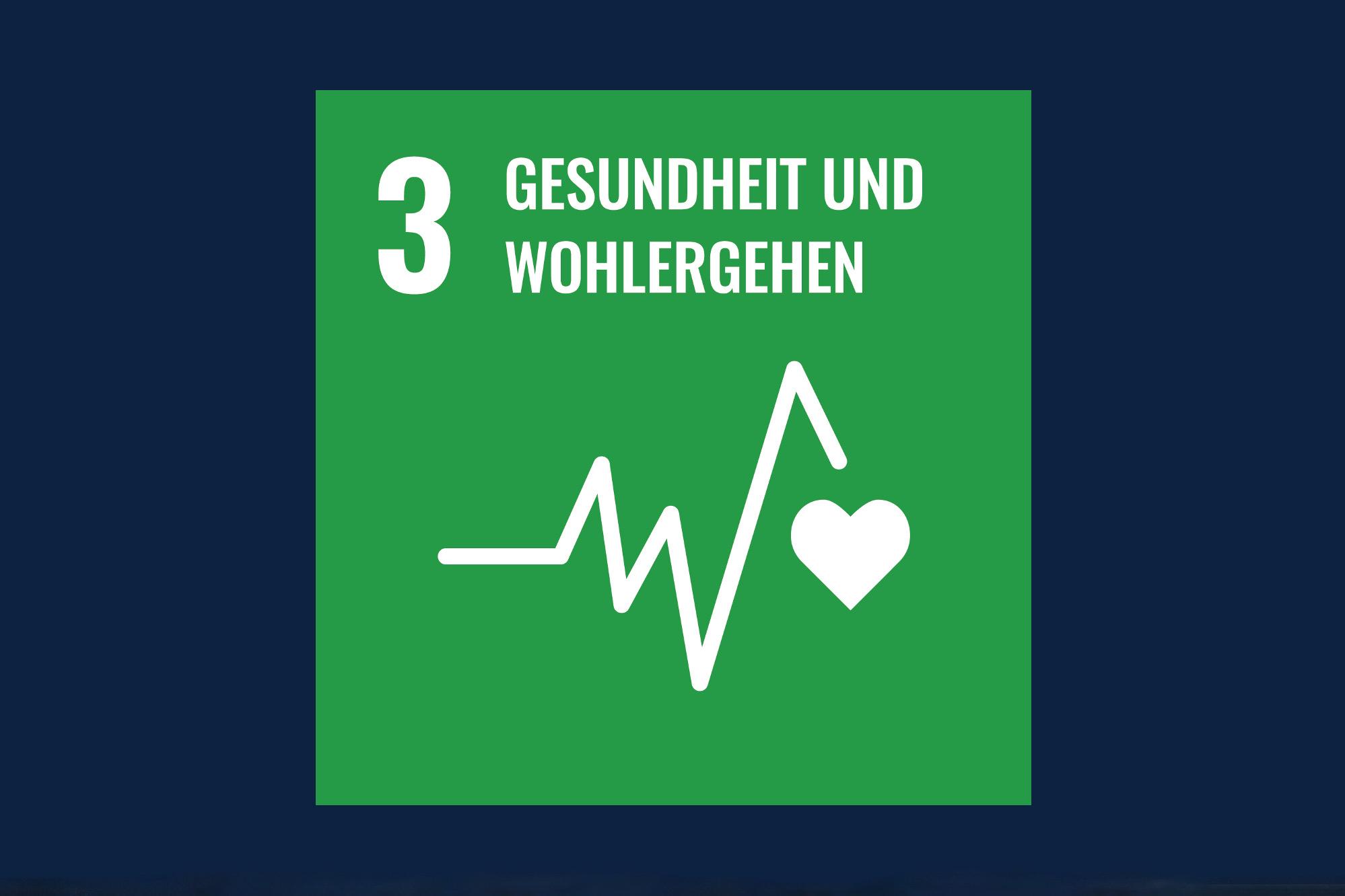 Icon für das Ziel 3 – Gesundheit und Wohlergehen