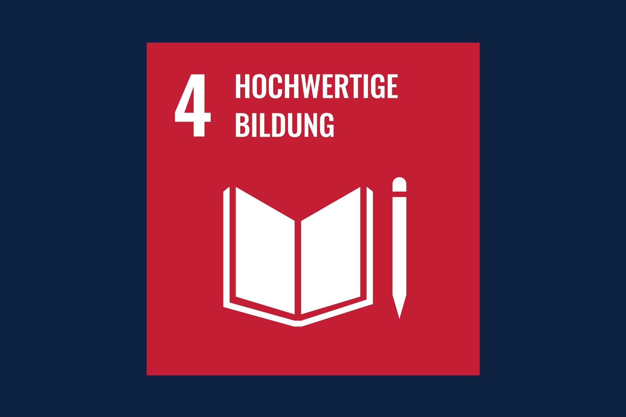 Icon für das Ziel 4 – Hochwertige Bildung