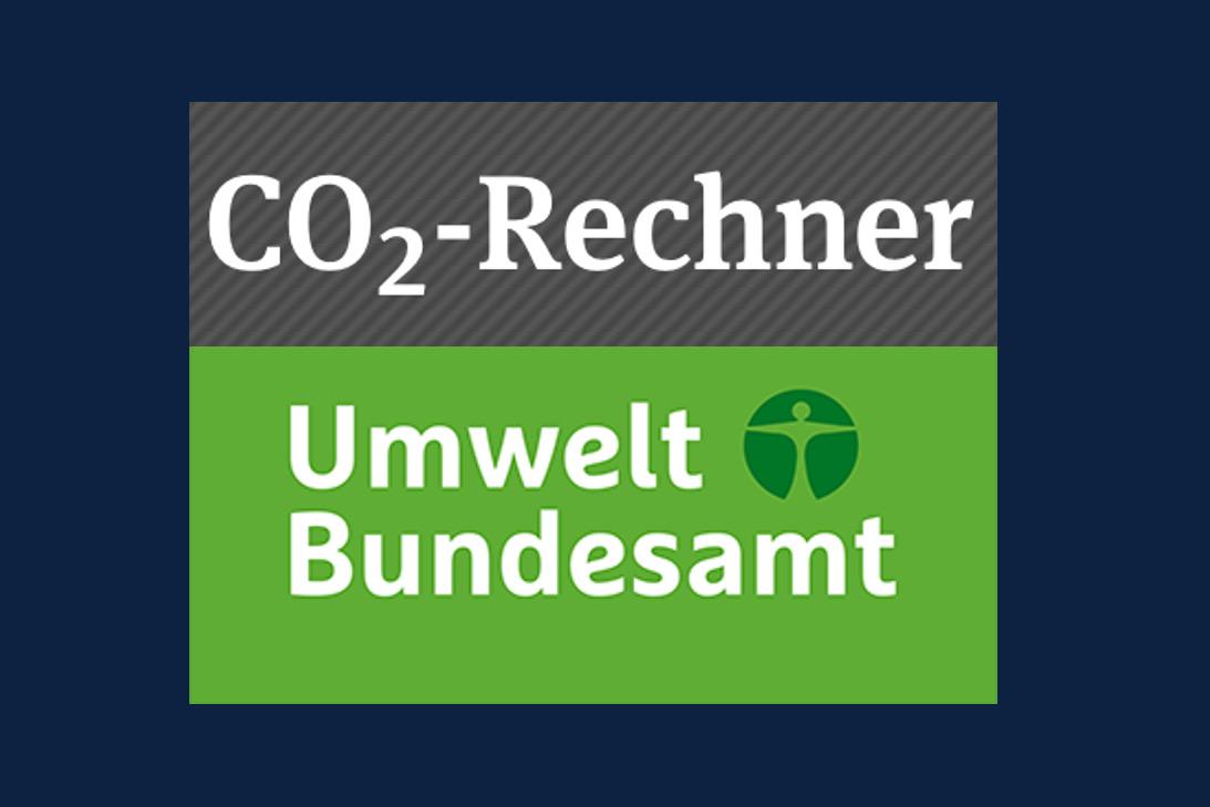 Logo des CO2-Rechners vom Umweltbundesamt
