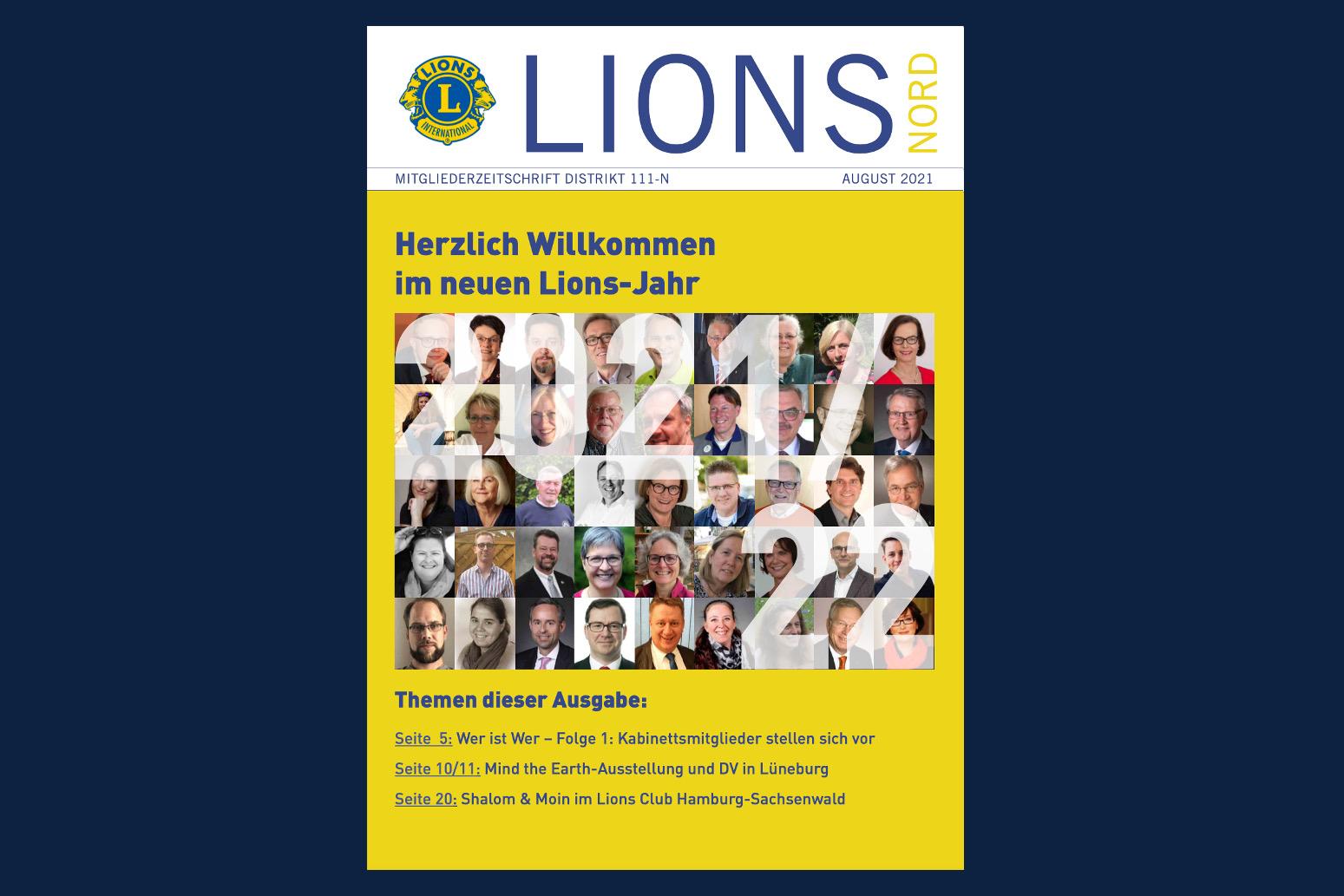Deckblatt des Lions Nord Newsletters