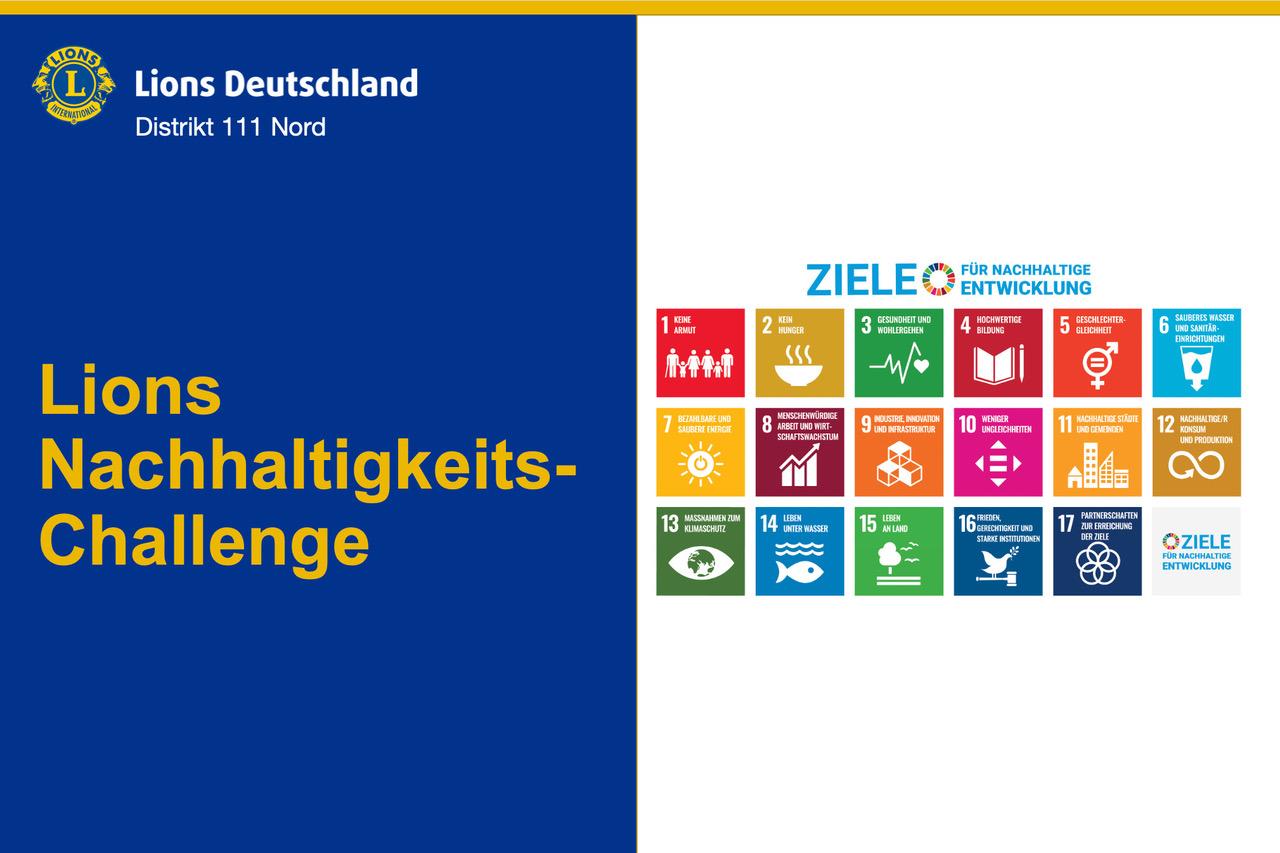 Startfolie der Powerpoint-Präsentation zur Lions Nachhaltigkeits-Challenge